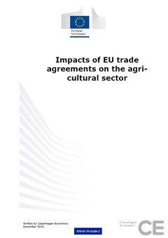 Publications impact of eu trade agreements on the agricultural sector authors platinumwayz