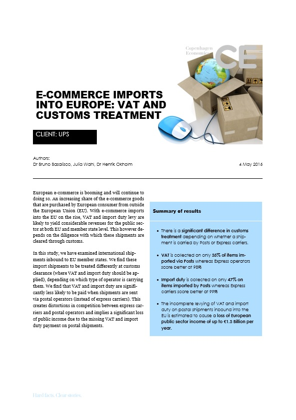 Publications - E-commerce imports into Europe: VAT and